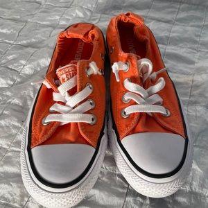 Converse shoreline orange slip on size 5 chucks